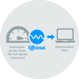 Offcloud's dedicated servers make a fast downloading experience possible